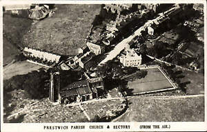 Prestwich Parish Church & Rectory from the Air.