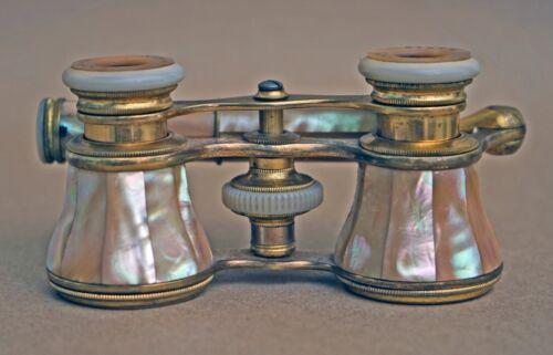 LEFILS PARIS ELEGANT! Antique Opera Glasses ~ Mother of Pearl /Binoculars