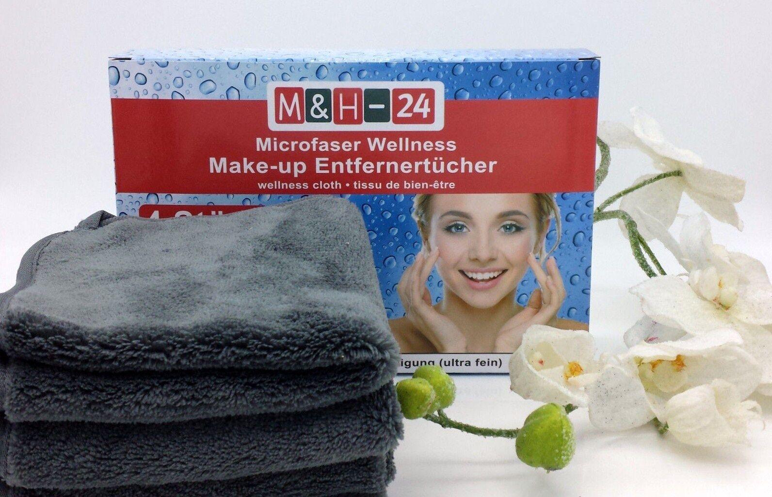 Mikrofaser Kosmetik Tücher Abschmink Tuch Peeling Gesichtsreinigung Make-up grau