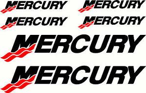 Mercury Fishing Boat Sticker Decal Marine Set of 6
