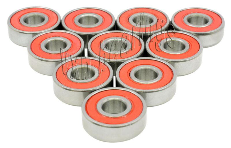 "10 Bearing R62RS 3/8""x 7/8""x 9/32"" Sealed Ball Bearings"