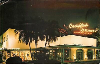 Ft Lauderdale FL~Creighton's Restaurant~Neon Night~Worlds Best Apple