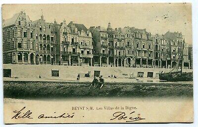 CPA - Carte Postale - Belgique - Heist sur Mer - Les Villas de la Digue - 1901 (