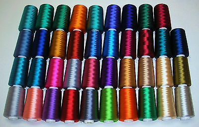 Madeira Embroidery Shiny Rayon Thread 5000 M/5416 Yd Spools Den 180/2 (Madeira Embroidery Thread)