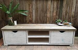 Lowline recycled timber tv cabinet Elanora Heights Pittwater Area Preview