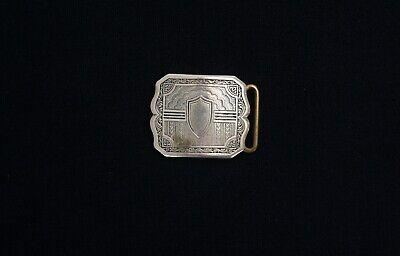 Antique Silver Buckle (Silver Belt Buckle Ornate Victorian Style Antique Vintage)