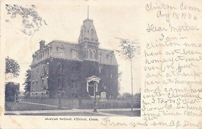 CLINTON CT – Morgan School – udb – 1906