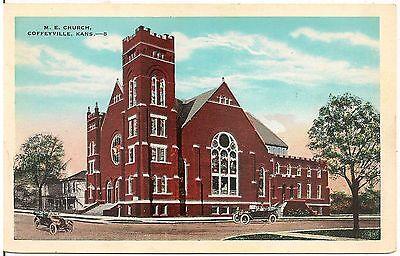 M E  Church In Coffeyville Ks Postcard