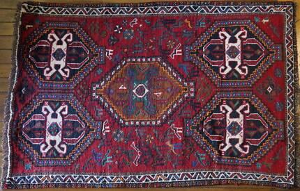 Antique Qashqaei Shiraz TribalHandmade Persian Rug-166x112 cm Hornsby Hornsby Area Preview