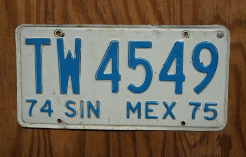 1974 1975 SINALOA Mexico License Plate