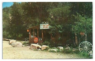 1950s/60s Clear Creek Store between Cimarron and Eagle Nest, NM Postcard