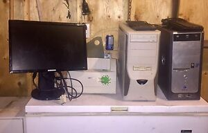 SALE OR TRADE - 2 towers,printer,monitor and 2 keyboards.