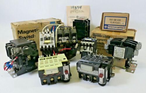 LOT of 11 Electrical Contactors etc. Allen-Bradley Fuji GE Telemecanique