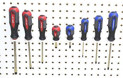 - White Plastic Peg board Multi-Purpose Tool Holder 50 Pk PEGBOARD NOT INCLUDED