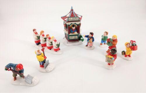 DEPARTMENT 56 Snow Village Various Themes 4 Sets Of Different Figures & Village