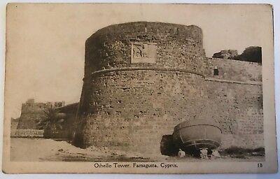 CYPRUS POSTCARD FAMAGUSTA OTHELLO TOWER J P FOSCOLO NO 18 C 1910