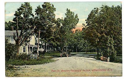 Wawarsing Ny   Main Street   Residential Section   Postcard