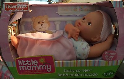 FISHER PRICE LITTLE MOMMY BABY SO NEW GIRL BRWN EYES HISPANIC K9098 *NU*
