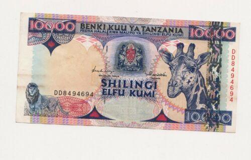 Tanzania 10000 Shillings (1997) - Giraffe/Central Bank/p33 AU