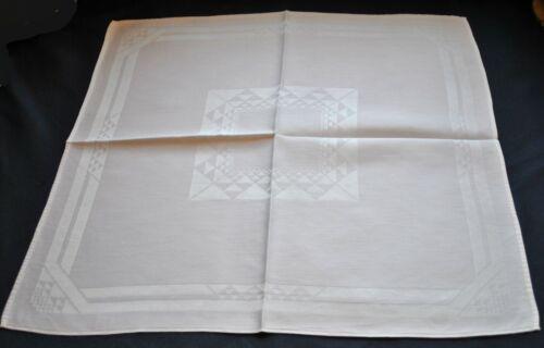 "Vintage 1940s Cotton Damask Dinner Napkins, Set of 12, Size 21"" x 21-1/2"""