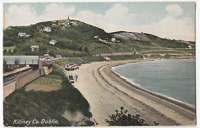 Dublin; Killiney PPC, 1905 PMK, Note Station To Left
