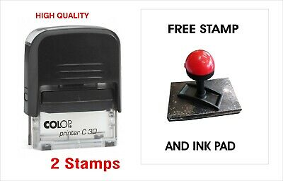 Colop C30 Self Inking Custom Stamp Office Service Symbol Business Personal Car1