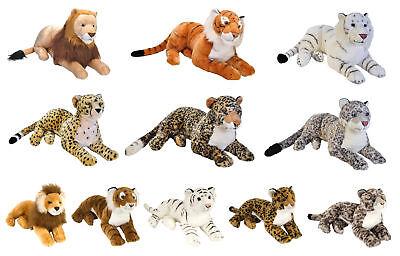 Wild Republic Stofftier Plüschtier Raubkatze Löwe Gepard Leopard Tiger 40 76 cm