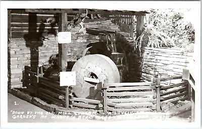 RPPC KNOTT'S BERRY PLACE, CA  MILLSTONE in the Gardens   c1940s    Postcard ()