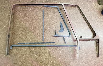 VW Kombi Front Door Window Frames Split Screen