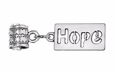 Hope Cut-Out Word Dog Tag Inspirational Dangle Charm for European Slide Bracelet