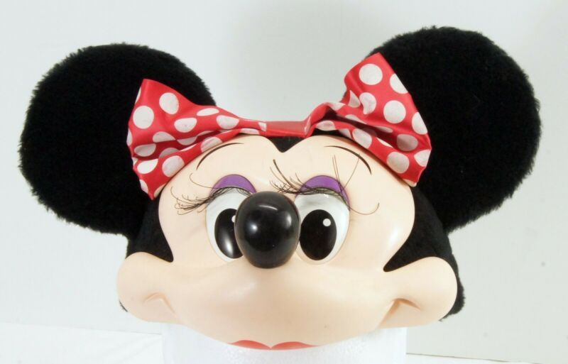 Vintage Disney Character Fashion Minnie Mouse 90s Snapback Hat Plush Ears One Sz