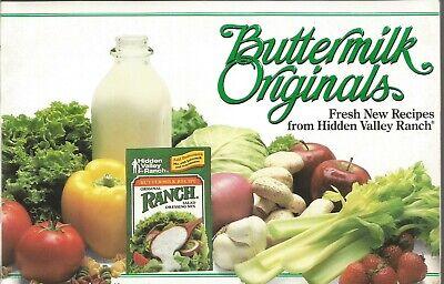 Buttermilk Originals Fresh New Recipes From Hidden Valley Ranch Paperback 1986 Hidden Valley Buttermilk Ranch