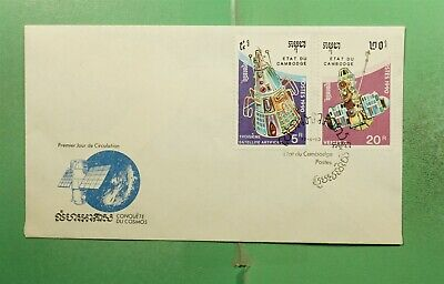 DR WHO 1990 CAMBODIA FDC SPACE CACHET COMBO  g15917
