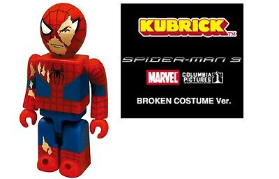 Medicom Toy SPIDER-MAN 3 MOVIE KUBRICK Figure BROKEN COSTUME MARVEL be@rbrick US