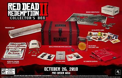 Red Dead Redemption 2 Collector's Edition Box ** Rare * (NO GAME) Sold -