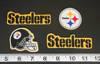 Nfl Team Fabric - Pittsburg Steelers NFL Team Fabric Iron On Applique Patch NO SEW Logo DIY Craft