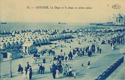 CPA - Belgique - Oostende - Ostende - La digue et la plage