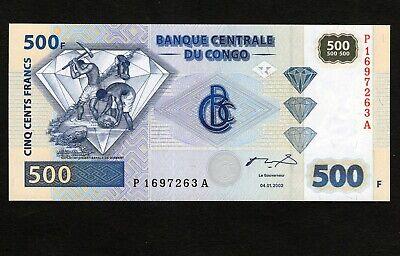 Kongo Congo 500 Francs 2002  UNCIRCULATED  DIAMONDS