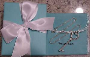 Tiffany & Co Beaded Heart Key Pendant necklace - RRP540 Perth Perth City Area Preview