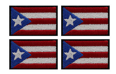 4 PUERTO RICAN HAT MINI FLAG PATCHES
