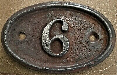 Antique - Vintage - Genuine & Original Cast Iron House Door No 6/9 FREE UK POST