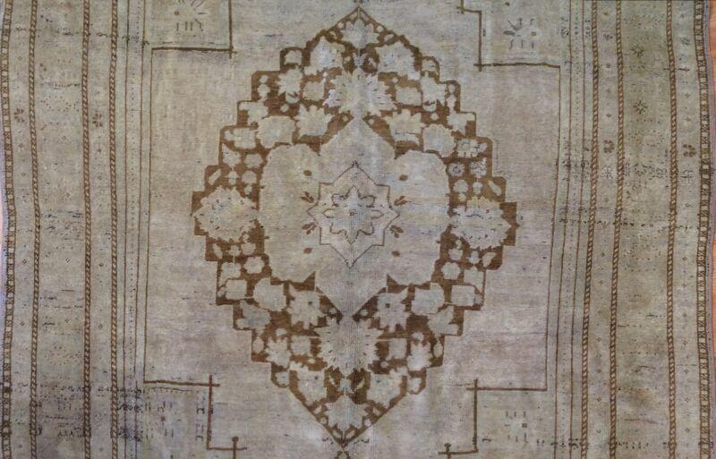 Tremendous Turkish - 1940s Antique Konya Rug - Oushak Carpet - 6.3 X 11 Ft.