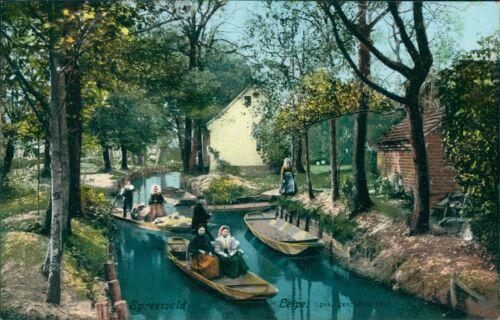 Ansichtskarte  Spreewald Leipe 1909 Tracht Bootsfahrt