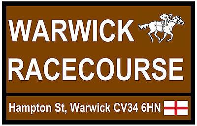 HORSE RACING TOURIST SIGNS (WARWICK) - FUN SOUVENIR NOVELTY FRIDGE MAGNET