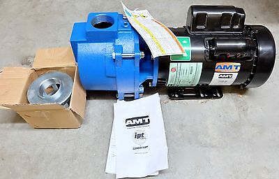 New Amt 316b-95 Sewage Trash Pump Cast Iron 3hp 230v 1ph Free Shipping