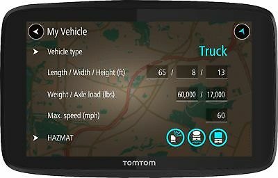 TomTom - TRUCKER 620 6 GPS with Built-In Bluetooth, Lifetime Map Updates and...