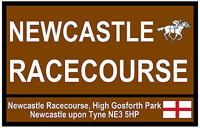 HORSE RACING TOURIST SIGNS (NEWCASTLE) - FUN SOUVENIR NOVELTY FRIDGE MAGNET