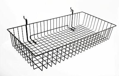 24x12 Metal Gridwall Basket Wire Holder Slatwall Hanging Basket Dump Bin
