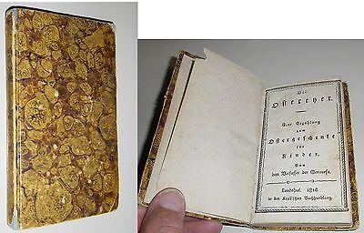 Miniaturbuch Schmid, Christoph von: Die Ostereyer Erstausgabe 1816 Rarität