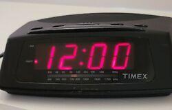 Timex AM/FM Radio Digital LED Alarm Clock Model T229B